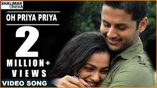 Ishq Movie    Oh Priya Priya Video Song    Nitin & Nithya Menon
