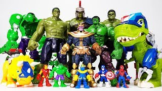 Thanos vs Gladiator Hulk Battle~! Go Avengers, Spider Man, Iron Man