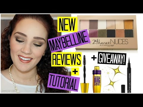 Testing NEW Maybelline Products + Gold Smokey Eye Tutorial ✨ GIVEAWAY!