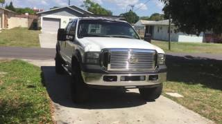 01 f250 7.3 2wd 6 inch lifted FL truck for sale