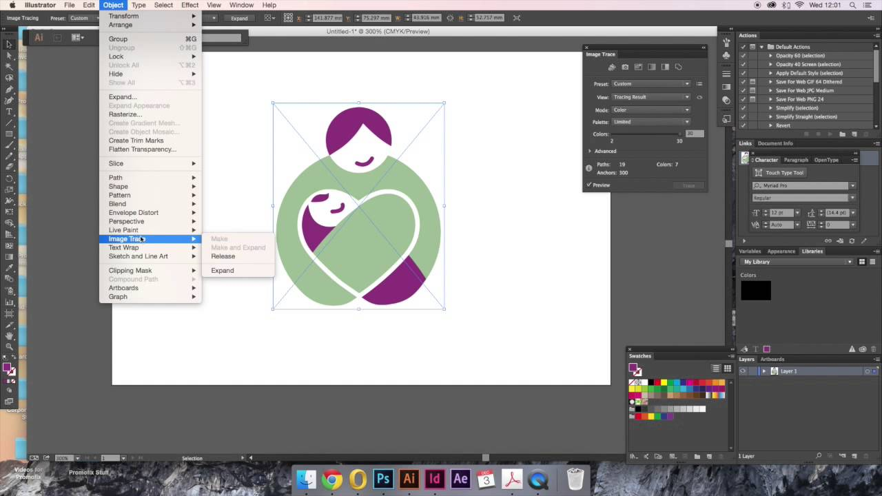 Fascinating convert to vector illustrator pictures