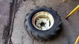 How to mount tractor tires
