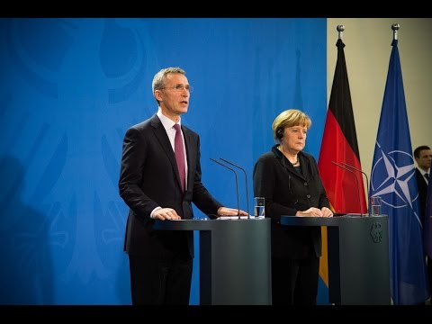 NATO Secretary General with Chancellor of Germany, 14 JAN 2015