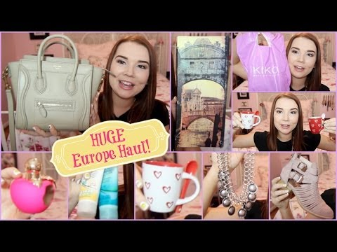 HUGE Europe Haul! | I'M BACK! | Lindsey Hughes
