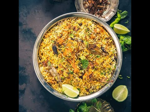 Hyderabadi Chicken Dum Biryani |  Step by Step-Chicken Biryani Restaurant Style