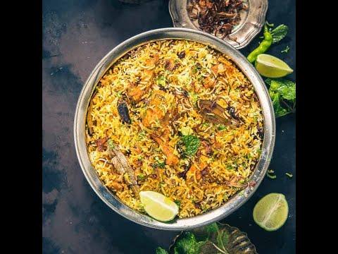 Hyderabadi Chicken Dum Biryani |  Step by Step-Chicken Biryani Restaurant Style