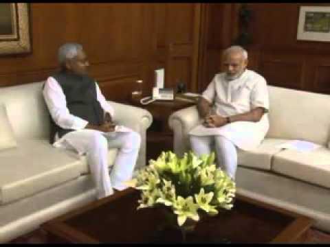 Bihar CM Nitish Kumar meets PM Narendra Modi