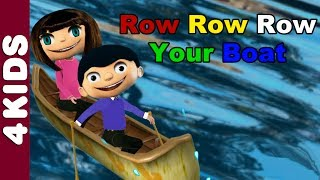 Row Row Row Your Boat | Nursery Rhymes | Vocals