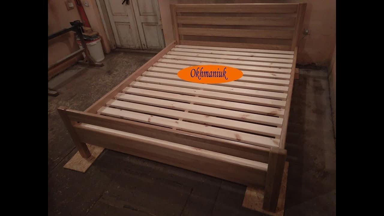 Простейшая кровать из дерева своими руками 90