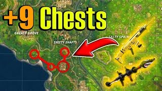 (NEW UPDATE) BEST Chest/Loot Run (9+ CHESTS) Fortnite Battle Royale! Spawn Locations