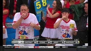 2014 Nathan's Hot Dog Eating Contest - Joey Chestnut Wins 8th Consecutive Title!