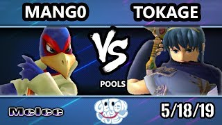 GOML 2019 SSBM - Tokage (Marth) Vs. Mang0 (Falco) Smash Melee Tournament Pools