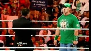John Cena & Michael Cole segment - Cena returns - WWE RAW 06/4/12 - (HQ)