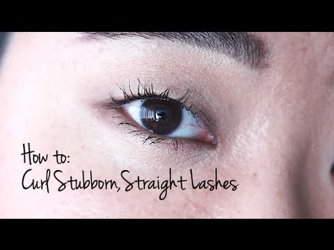 How to Curl Stubborn. Straight Lashes!