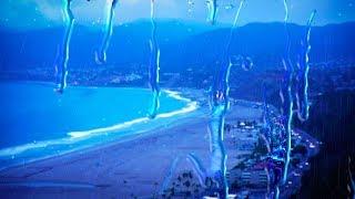 Rain with Ocean Waves 10 Hours   Sleep, Study, Focus with Rainstorm White Noise