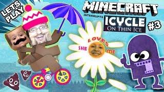 Lets play iCycle: op dun ijs w / Minecraft! Ze houdt niet van me? (Crazy Naked Bike Guy Part 3)
