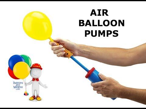 Air balloon pumps balloon inflators balloonsandweights for How to make a small air balloon