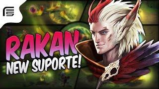 NOVO CAMPEÃO - RAKAN SUPORTE GAMEPLAY - League of Legends - Fiv5 gameplay - [ PT-BR ]