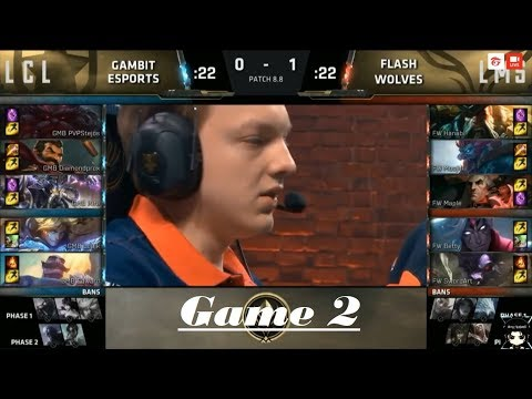 Flash Wolves vs Gambit Esports Game #2 MSI 2018