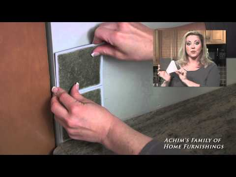 Installing Self Adhesive Vinyl Wall Tile - Back Splash by Nexus