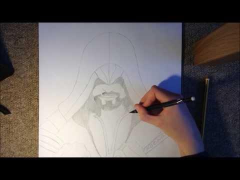 Видео как нарисовать Эцио