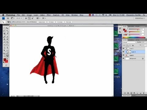 Superman Cape Drawing Draw a Cape in Photoshop