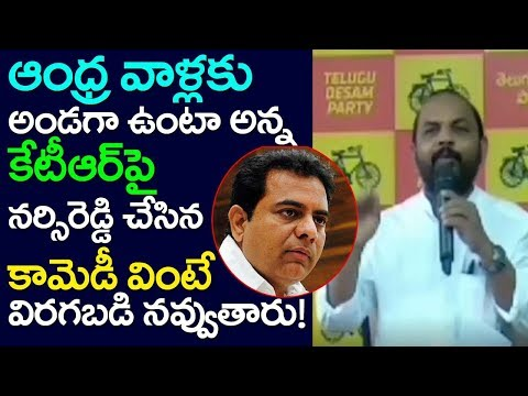 Nannuri Narsi Reddy Punch Dialogues On KTR CM KCR, Election