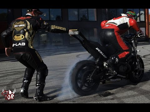 School of motorcycle stunts! Buell stunt lesson 2
