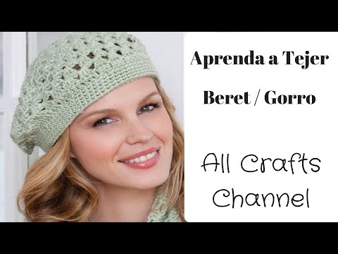 Crocheting Youtube Videos : Gorro Beret en Crochet (En Espa?ol) - YouTube