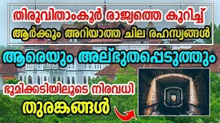 Interesting Facts about Travancore Kingdom   Secret Underground Path   രഹസ്യ തുരങ്കം