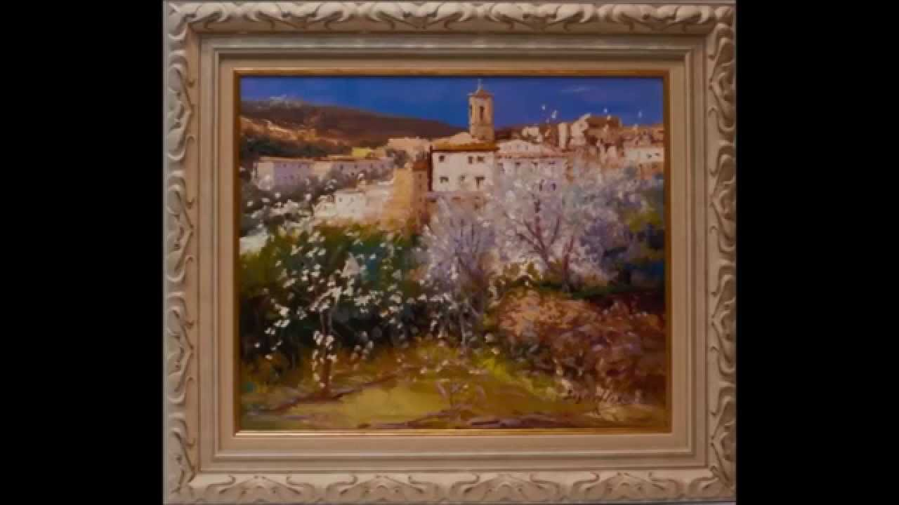 Cuadros de paisajes al oleo youtube - Oleos de jardines ...