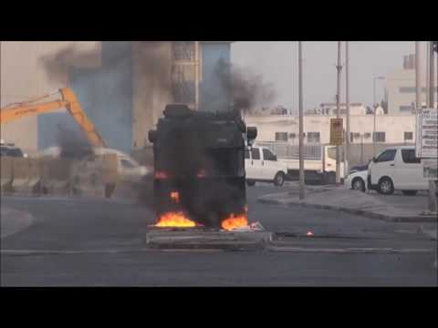 Bahrain : Heavy Clashes On the Anniversary of Al-Khalifa Invasion To Our Country