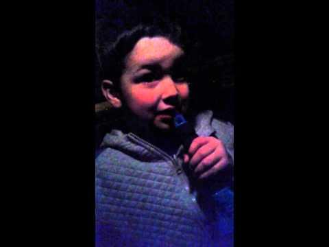 Zak singing Olly Murs