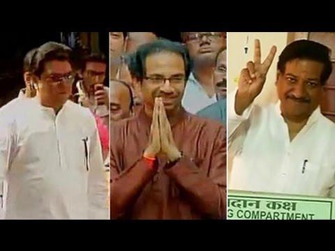 Long queues at polling booths as Maharashtra and Haryana vote