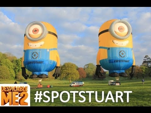 #SpotStuart as he travels around Europe to celebrate the upcoming release of Despicable Me 2!