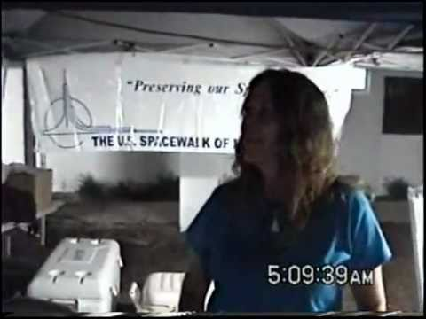 Interview with Karen of Space Walk Of Fame Museum during STS-134 launch