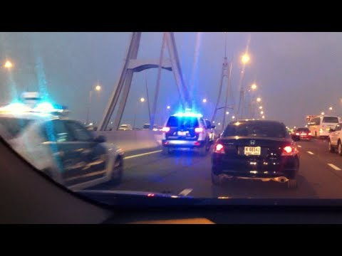 Accident in Business Bay Crossing Dubai !