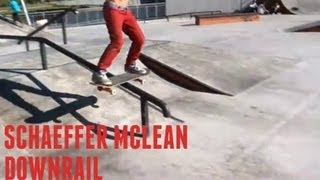 8 year old Schaeffer McLean - Day with friends, gets a downrail