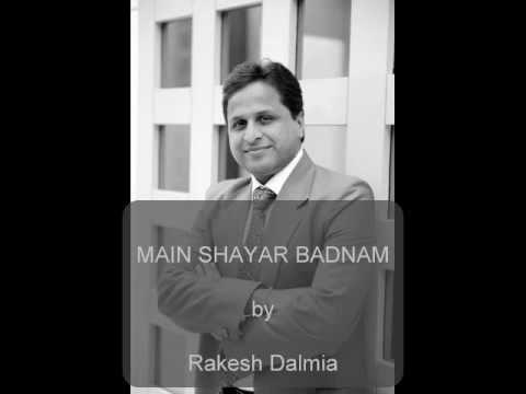 Main Shayar Badnam Karaoke- Sung by Rakesh