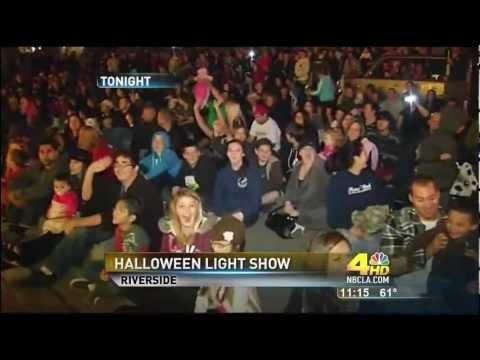 NBC Channel 4 News (Los Angeles Local KNBC) - 2011 Halloween Light Show