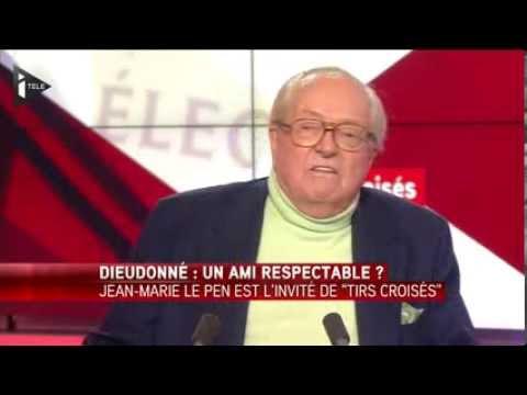 Jean-Marie le Pen défend Dieudonné face à une journaliste stipendiée (février 2014)