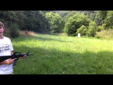 shooting a colt .223 full auto with a .22 LR Conversion Kit
