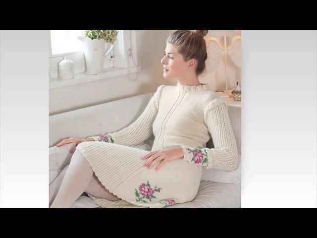 PLETENA MODA.Белое вязаное платье (crochet)