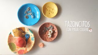 DIY: TAZONCITOS CON MASA CASERA (SOLO 3 INGREDIENTES!!)