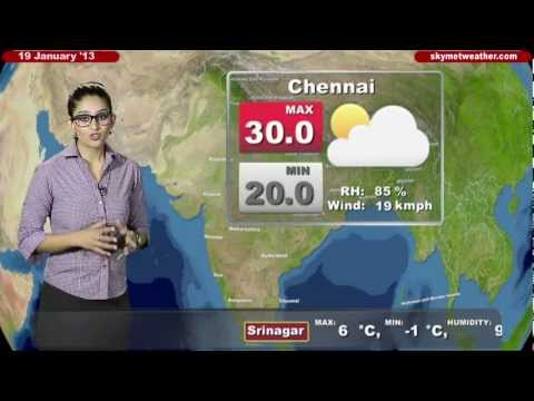 Skymet Weather Report - India January 19, 2013