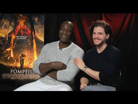 Kit Harington & Adewale Akinnouye-Agbaje Interview - POMPEII - This Is Infamous