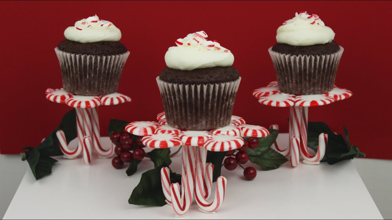 Cake Tv Show Crafts : How to Make Peppermint Candy Stands and Cupcakes! - YouTube