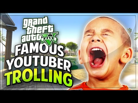 Kid Is A Famous Youtuber On Gta 5! (gta V Funny Moments trolling) video