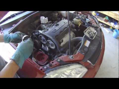 Suzuki Forenza timing belt and water pump replacement part 1 of 2