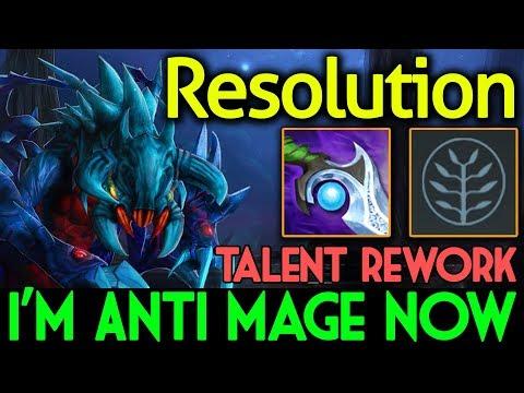 BREAK 70 MANA PER HIT!! I'M ANTI MAGE NOW | Talent Rework Weaver by Resolution Dota 2 7.07